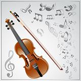 Violin. Musical background