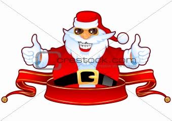 Cool Santa and Banner