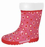 pink rubber boot