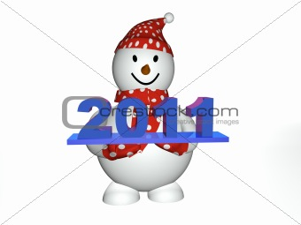 3d snowman 2011
