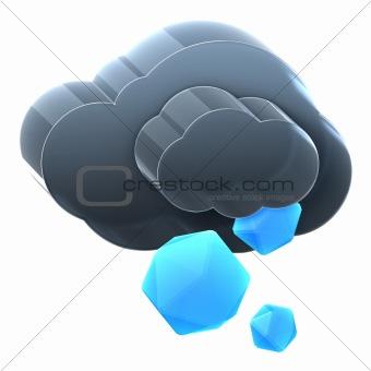 Cloud with ice rain.
