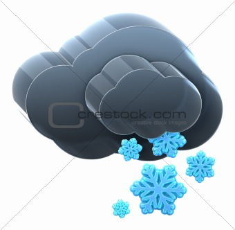 Cloud with heavy snow.