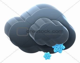Cloud with light snow.