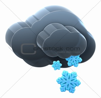Cloud with medium snow.
