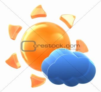Sun and light cloud.