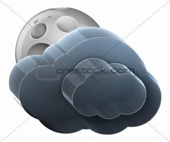 Moon and medium cloud.