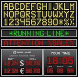 vector electronic alphabet