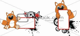 fox baby cartoon in vector format very easy to edit