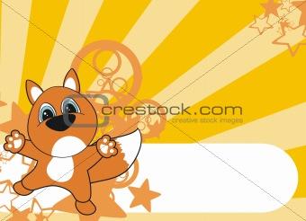 fox cartoon background