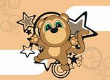 monkey cartoon background