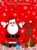 Christmas Santa Claus and Red-Nosed Reindeer