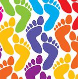 colorful feet background