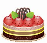 cake with strawberry and chocolate