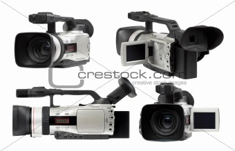 Semi professional camcorders set