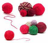 Colored wool clews set