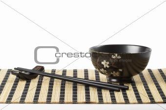 Bowl and chopsticks