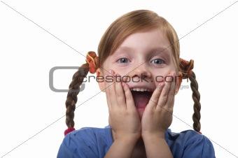 Wondering funny girl