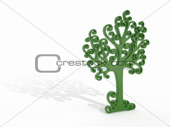green tree with shadow