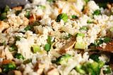 Rice chicken and vegetables