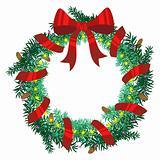 The Christmas wreath of fir twigs