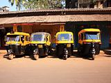 Line of auto rickshaws India