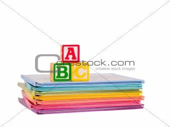 ABC Blocks and Apple on Children's Books