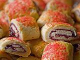 Raspberry Pinwheel Pastries Close Up Full Frame