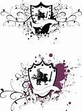 heraldic gryphon vector
