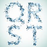 alphabet water drop QRST