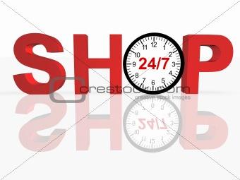 24/7 Shopping Concept