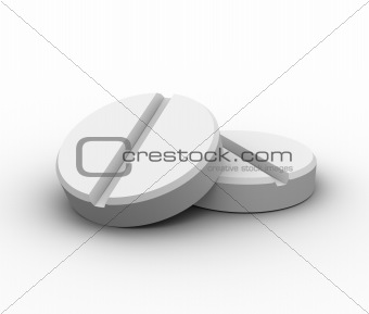 3d render of two pills
