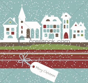 Christmas landscape, vector