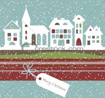 Christmas landscape, vector