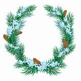 The Christmas wreath of fir twigs.