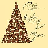 Greeting card with coffee bean