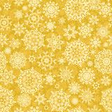 Seamless light gold christmas pattern. EPS 8