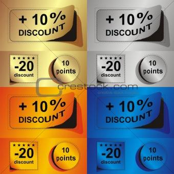 advertising coupon set