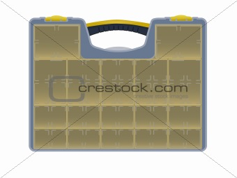 Case with tools isolated over white background