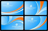 Vector business cards set