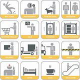 Set of vector signs (icons)