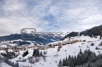 Small town in Italian Alps