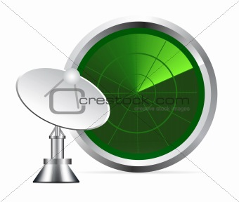 vector radar screen
