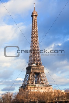 Eiffel Tower at December