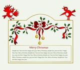 Christmas Decorations frame. Vector