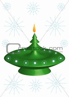 Christmas candlestick 3D,  background