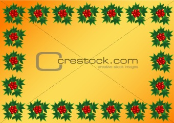 Background with Sprig of European holly