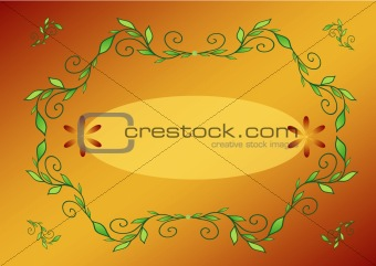 Postcard, oval frame for your text, vector