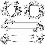 frames with floral pattern