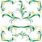 set of floral ornament