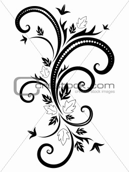 black vector pattern for decoration